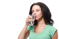выпивая девушка милая Стоковая Фотография