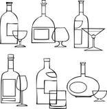 выпивая комплект Стоковое Изображение RF