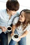 Выпивая кофе Стоковая Фотография