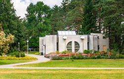 Выпивая насосное отделение минеральной воды Курорт Druskininkai, Литва Стоковое фото RF