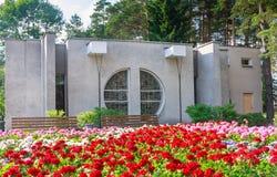Выпивая насосное отделение минеральной воды Курорт Druskininkai Стоковые Фото
