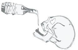 выпивая скелет Стоковое Изображение
