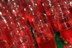 Выпивая стекла с лимонадом Стоковое Изображение RF