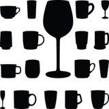 выпивая стекла Иллюстрация штока