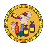 выпивая стоп знака иллюстрации Стоковые Изображения RF
