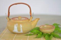 Выпивая чай настоящее удовольствие Стоковое Фото
