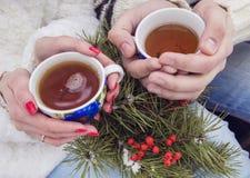 Выпивая чай совместно Стоковые Изображения