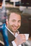 выпивая espresso стоковое фото