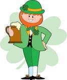 выпивая leprechaun Стоковые Фотографии RF