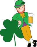 выпивая leprechaun Стоковая Фотография RF