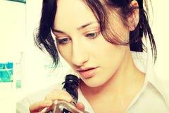 выпитая женщина Стоковые Изображения RF