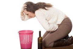 выпитая женщина Стоковая Фотография