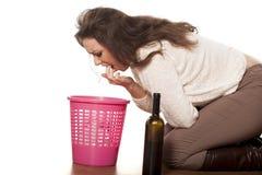 выпитая женщина Стоковое фото RF