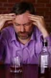 выпито получает человека унылым Стоковое Изображение RF