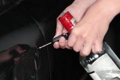 выпитый водитель принципиальной схемы стоковое изображение rf