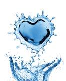 Выплеск воды в форме сердца Стоковая Фотография