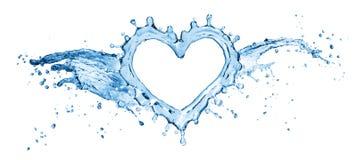 Выплеск воды в форме сердца стоковое изображение