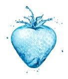 Выплеск воды клубники Стоковая Фотография