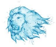 Выплеск воды льва рычать Стоковые Фото