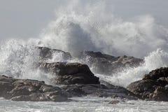 Выплеск волн в побережье Стоковые Фото