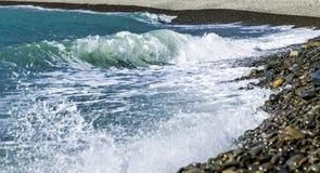 Выплеск волн моря Стоковая Фотография RF