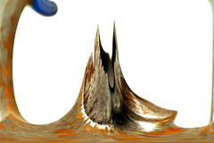выплеск горы абстрактного искусства цифровой Стоковые Изображения RF