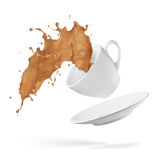 выплеск кофе Стоковая Фотография