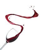 Выплеск красного вина Стоковое Фото