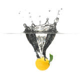 выплеск лимона Стоковая Фотография RF