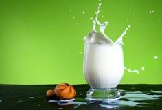 выплеск молока Стоковое Изображение