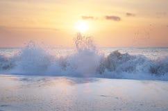 Выплеск моря волн Стоковое Фото
