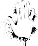 выплеск руки Стоковая Фотография RF