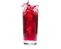 выплеск сока клюквы Стоковая Фотография