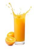 выплеск сока померанцовый Стоковые Изображения RF