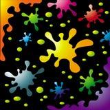 выплеск цветастых чернил установленный иллюстрация вектора