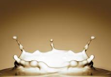 выплеск шоколадного молока Стоковая Фотография