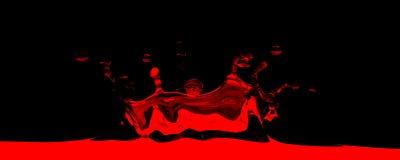 выплеск 3d представленный красным цветом Стоковые Изображения