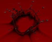 выплеск 3d представленный красным цветом Стоковые Фото
