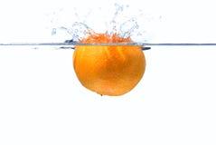 выплеск clementine стоковое изображение
