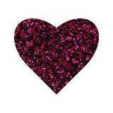 Выплеск confetti вектора в форме сердца Карта поздравлению предпосылки дня Святого Валентина Форма сердца много иллюстрация штока