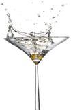 выплеск martini стоковые изображения rf