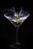 выплеск martini стоковые фотографии rf