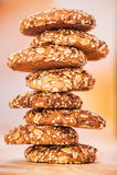 выплеск oatmeal печений Стоковая Фотография