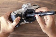 Выполнять обслуживание на камере стоковые изображения