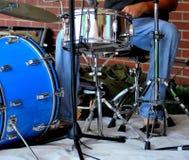 Выполнять барабанщика джаза Стоковые Фото