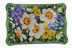 Выпуклая цветочная композиция тома на коробке Стоковое Изображение