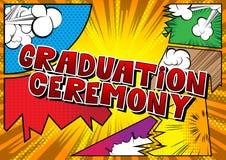 Выпускная церемония - слова стиля комика бесплатная иллюстрация