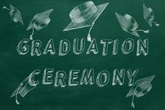 Выпускная церемония иллюстрация штока