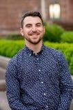 Выпускник коллежа на кампусе в Орегоне Стоковые Фотографии RF