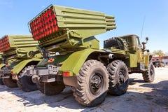 Выпускник BM-21 ракетная установка многократной цепи 122 mm Стоковое Изображение